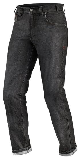 Shima Kevlar Hombre Pantalón de Motorista SAS de verano Tec con protecciones, RAW Black,