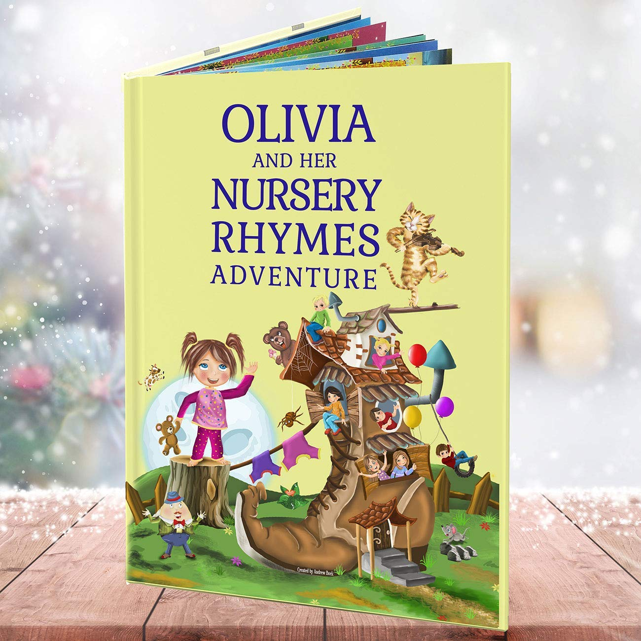 Personalised Baby Book of Nursery Rhymes. Extra Verses Including Your Child's Name