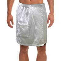 Radiant Saunas SA5127 Men's Spa and Bath White Terry Cloth Towel Wrap