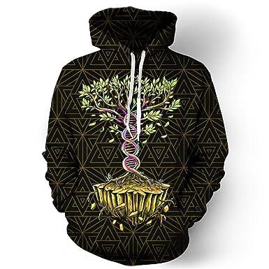 Tree of Life 3D Hoodies Sweatshirt Hombres Mujeres Moda Sportswear Chándal Pullover Casual: Amazon.es: Ropa y accesorios