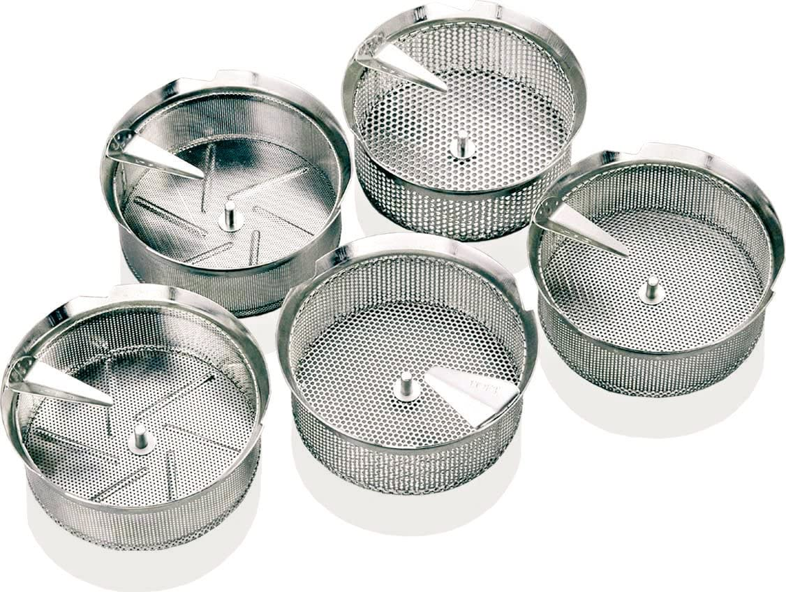 Paderno World Cuisine Sieve for 8-Quart Stainless Steel Food Mill with 1/32-Inch Perforations