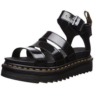 Dr. Martens Women's Blaire Patent Leather Fisherman Sandal | Platforms & Wedges