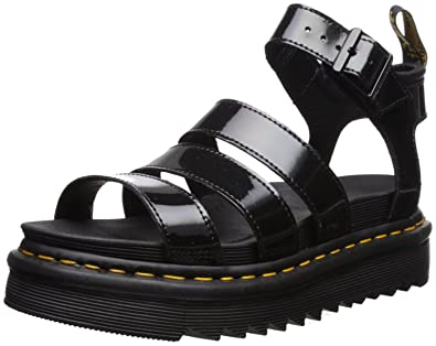 4ee482bdbaae Dr. Martens Women s Blaire Patent Leather Fisherman Sandal Black Brando