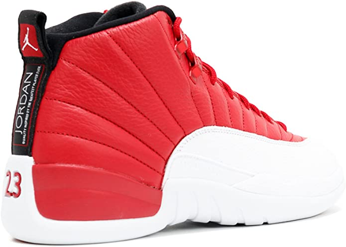 Dormido necesario Objeción  Amazon.com: Nike Air Jordan 12 Retro, Gimnasio Rojo/Blanco-Negro, 18: Shoes