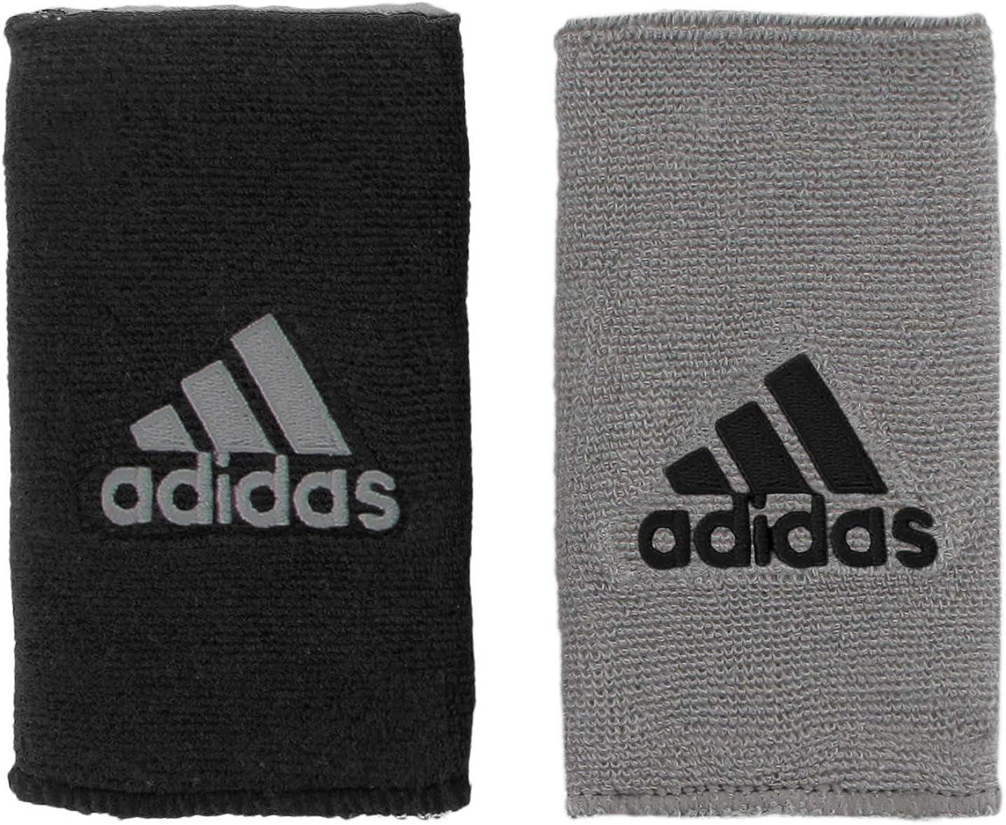 adidas Unisex Interval Large Reversible Wristband, Black/Aluminum 2 Aluminum 2/Black, ONE SIZE: Clothing