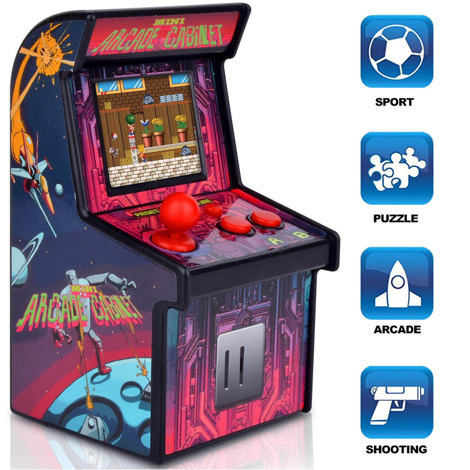 GBD Kids Mini Retro Arcade Game Cabinet Machine 200 Classic Handheld Video Games 2.5'' Display Joystick Travel Portable Game Player Kids Boys Girls Holiday Birthday Gifts Electronic Toys by GBD (Image #3)