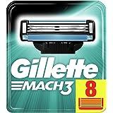 Gillette Mach3 Lamette di Ricambio, Confezione da 8 Lamette