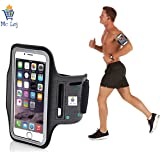 Mc Loj Neoprene Hand Fitness Arm Band for All Phones (Black)
