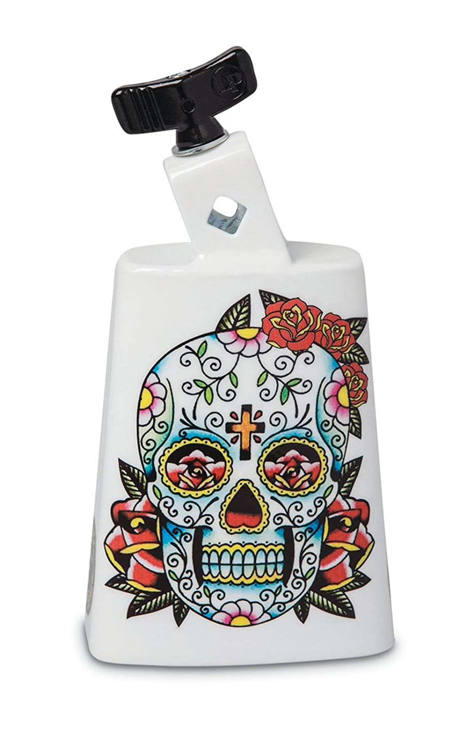 Latin Percussion LP204C-SS Black Beauty Cowbell, Sugar Skull
