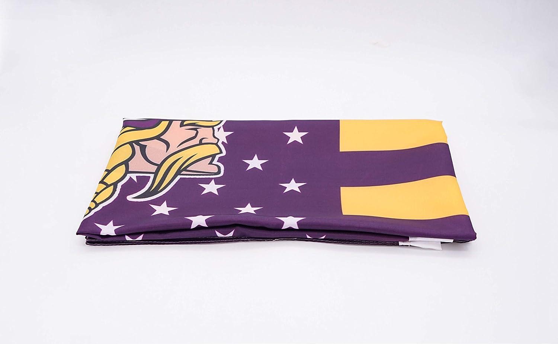 WHGJ Minnesota Vikings NFL 3x5 FT Flag Super Bowl Stars and Stripes Indoor//Outdoor Sports Banner