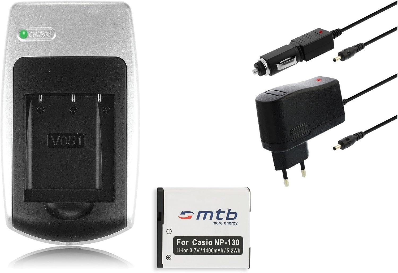 Ladegerät Akku Np 130 Für Casio Exilim Ex H30 Zr100 Kamera