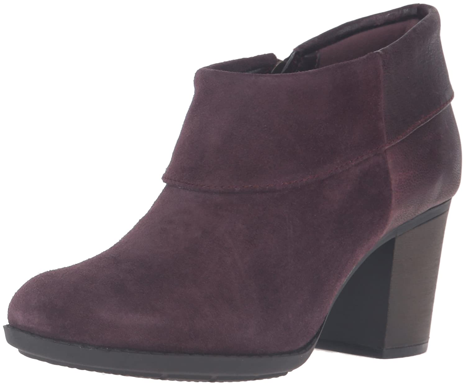 CLARKS Women's Enfield Canal Boot B0198WDV1K 11 B(M) US|Aubergine Suede