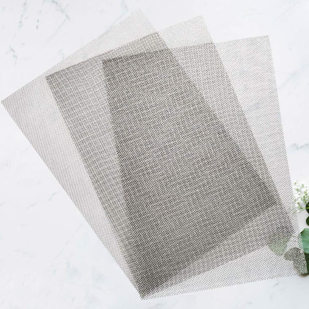 ULTECHNOVO 3pcs 304 Stainless Steel Mesh Metal Strainer Mesh Filter Woven Wire 20 Mesh Hole for Shop Store Industry Air Ventilation 30x21cm