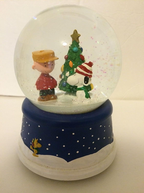 Musical Peanuts 50th Anniversary Snow Globe Hallmark 015012614077