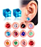 Amazon Price History for:Spiritlele 12 Pairs Colors Crystal Stud Earrings Set CZ Magnetic Click on Non Piercing Earrings Pack