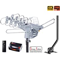 $46 Get pingbingding HDTV Antenna Amplified Digital Outdoor Antenna with Mounting Pole & 40FT…