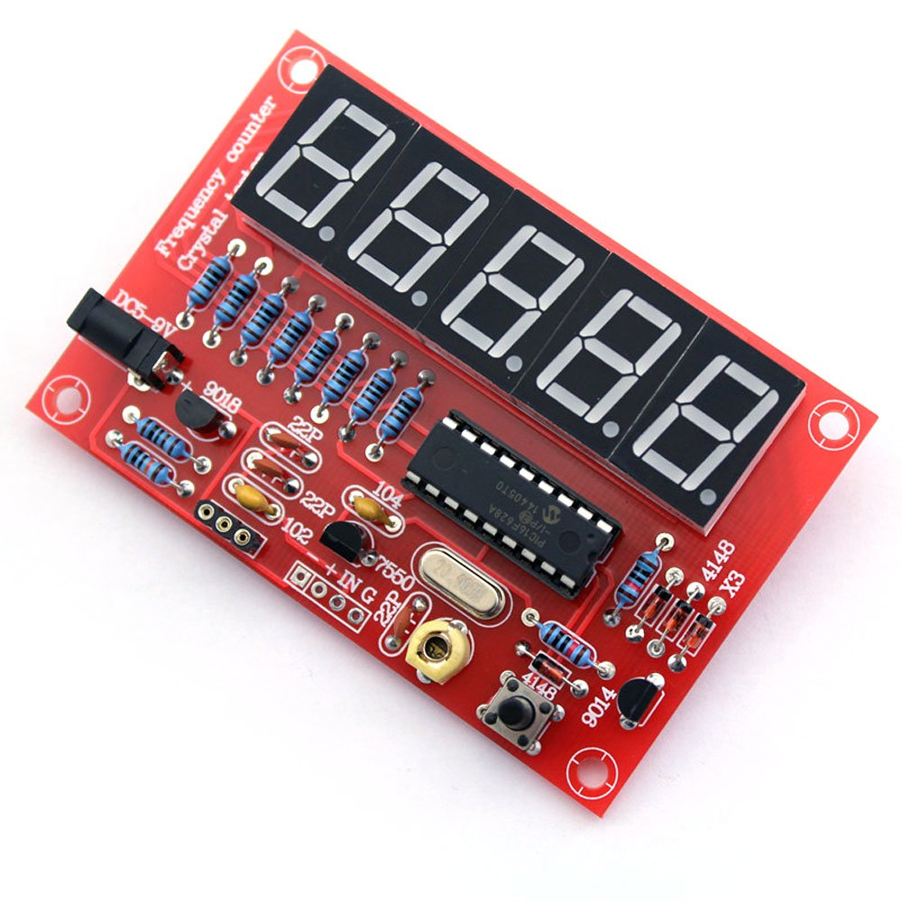 Andoer 50mhz Crystal Oscillator Frequency Counter Tester Diy Kit 5 Simple Digits Resolution Business Industry Science