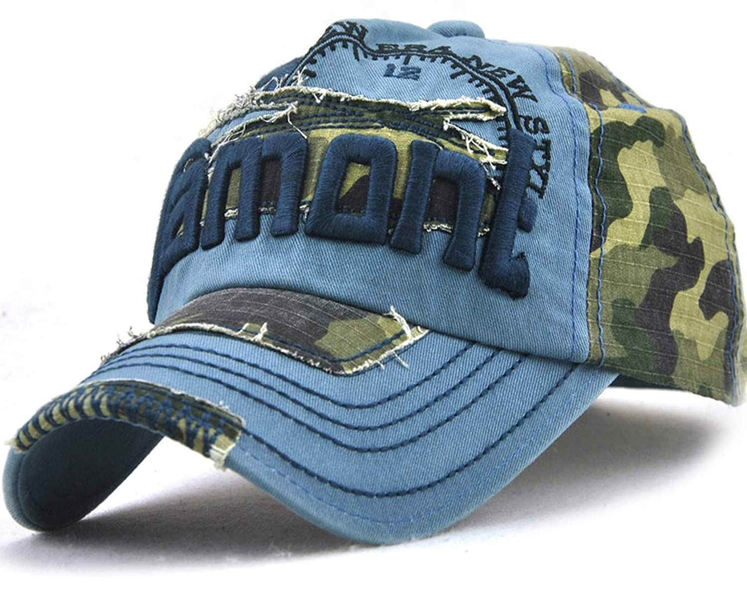 Rzxkad Camouflage Baseball caps Outdoor Fashion hat Letters Leisure Men and Women Baseball Cap