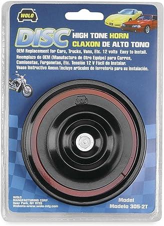 WOLO 305-2T DISC HIGH TONE HORN 12V    UPC 080217003056