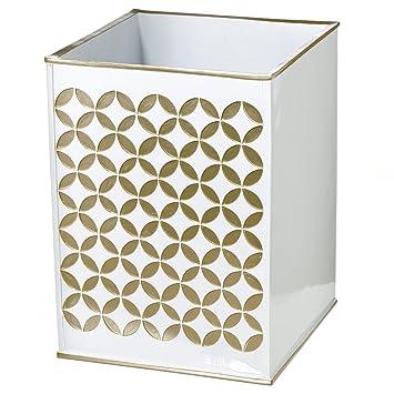 Amazon.com: Diamond Lattice Bathroom Trash Can (7.7\