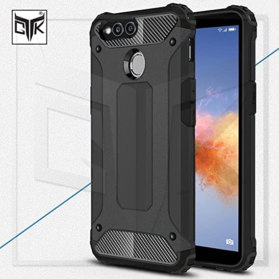 best cheap 51a08 84b81 TheGiftKart Honor 7X Back Cover Case: Special Edition Neo-Hybrid Dual Layer  Armor Back Cover (Metallic Black)