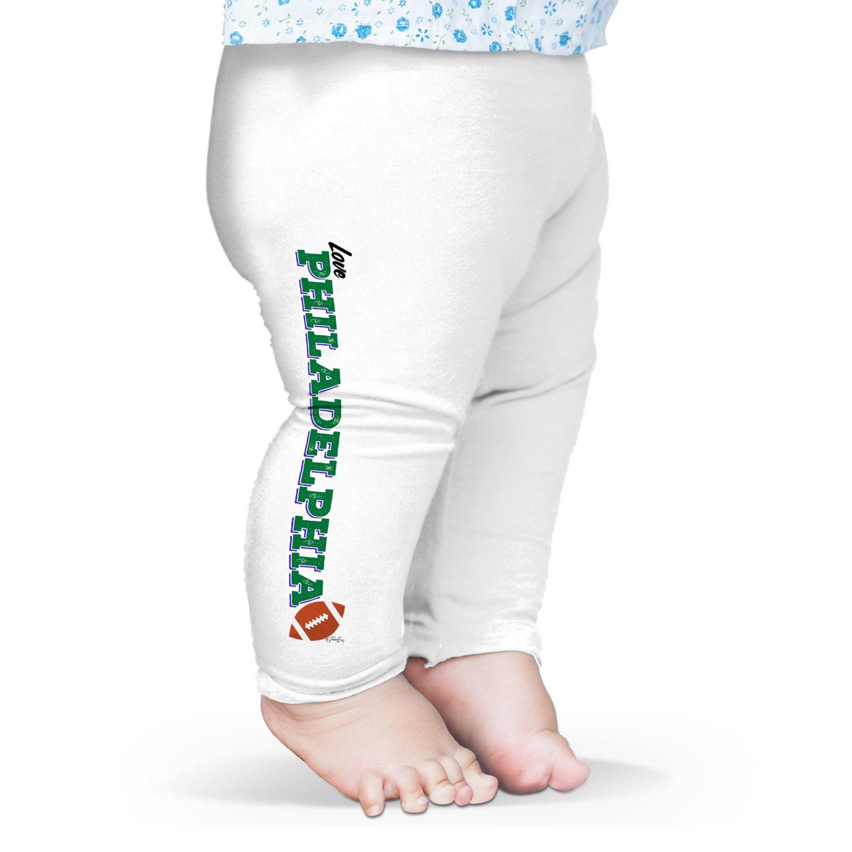 Twisted Envy Baby I Love Philadelphia American Football Leggings Trousers 3-6 Months White