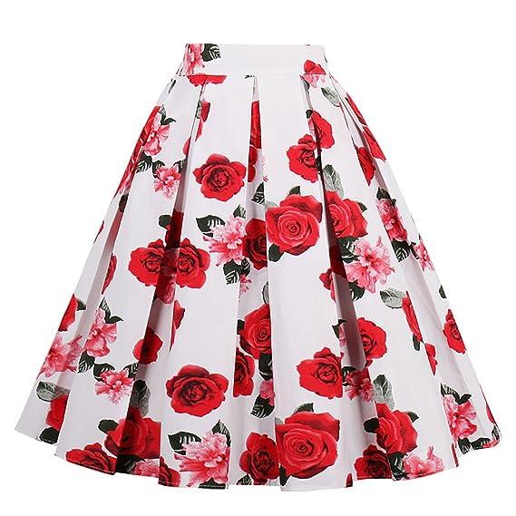 Yotown Falda de Rockabilly para Mujer, Falda de Verano Falda ...