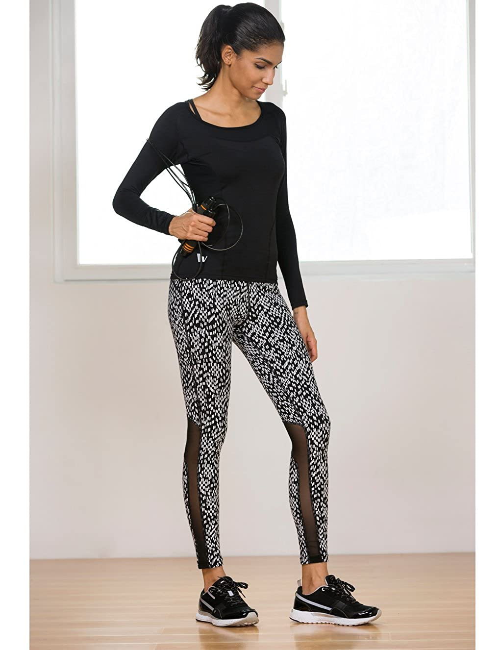 Showtime Womens Athletic Leggings Fitness Workout Yoga Gym Running Tight Pants