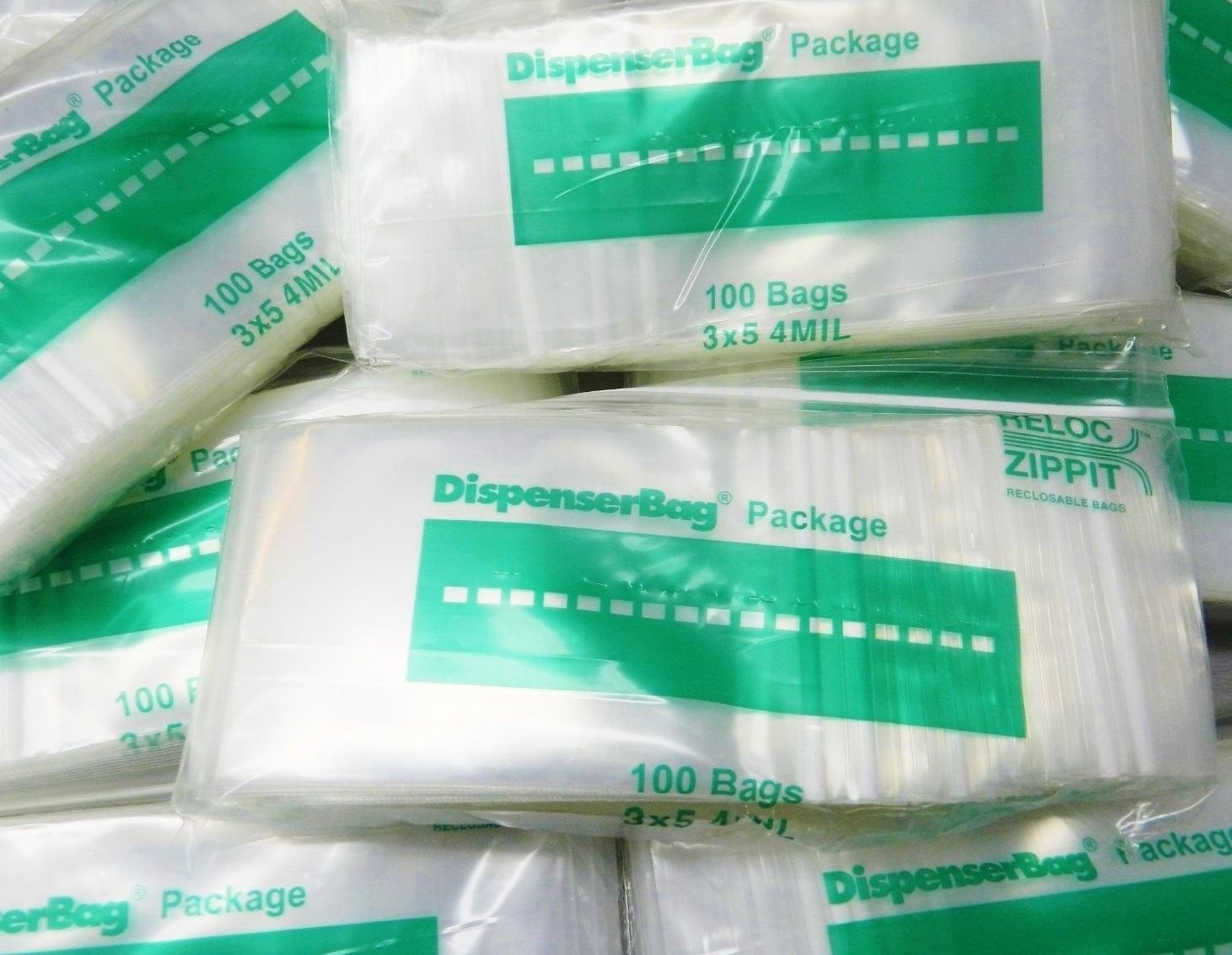 1000 ZIPLOCK 3''x5'' CLEAR 4 MIL POLY BAGS RECLOSABLE ZIP LOCK BAG 4Mil THICK 3x5 (LZ 8.9 R BOX A) by NOVEL