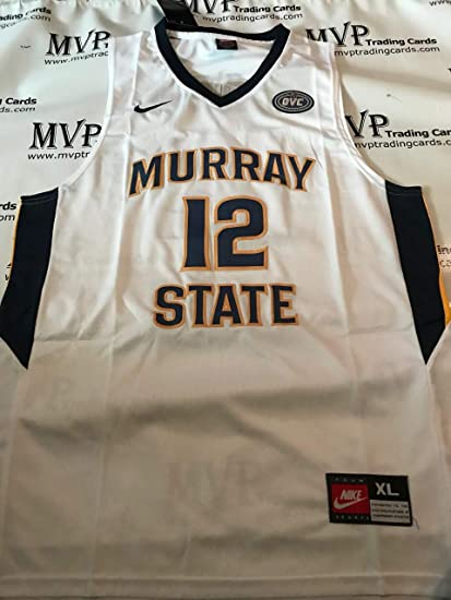 uk availability b4117 c2d15 Amazon.com: Ja Morant White Murray State Men's Size Large ...