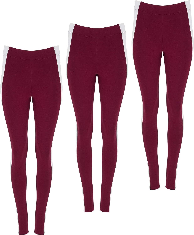 ROLY Pack 3 | Mallas de Mujer Cintura Alta | Diseño Dos colores | Pantalón Deportivo Fitness/Running | Estampado | Algodón