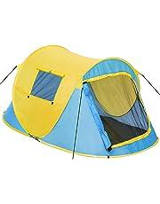 TecTake Tenda popup campeggio 2 posti automatica instant con picchetti e borsa - disponibile in diversi colori -