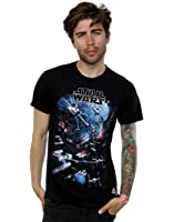 Star Wars Men's Universe Battle T-Shirt Large Black