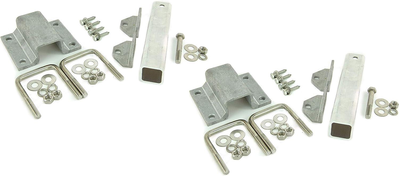 6 inch Aluminum L-Type Bunk Bracket Kit Stainless Hardware 3 x 3 Crossmember 2