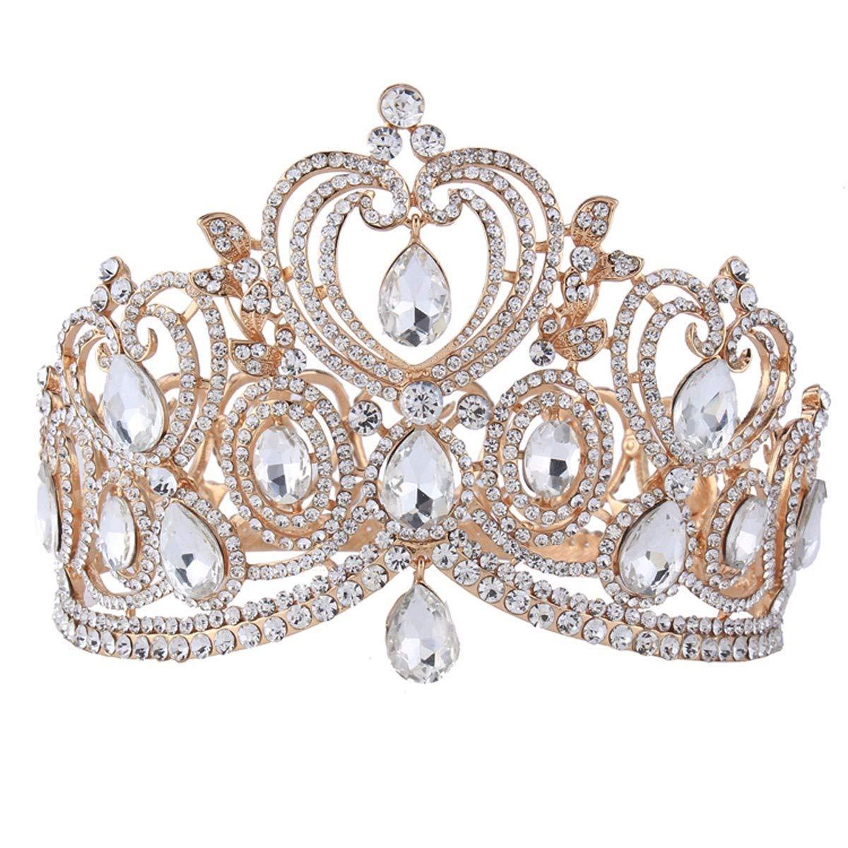 Wedding Crown, Beautiful headdress/Queen'S Baroque Crown Decorations Bride'S Crown Luxurious Atmosphere Court Photo Studio Accessories Accessories.