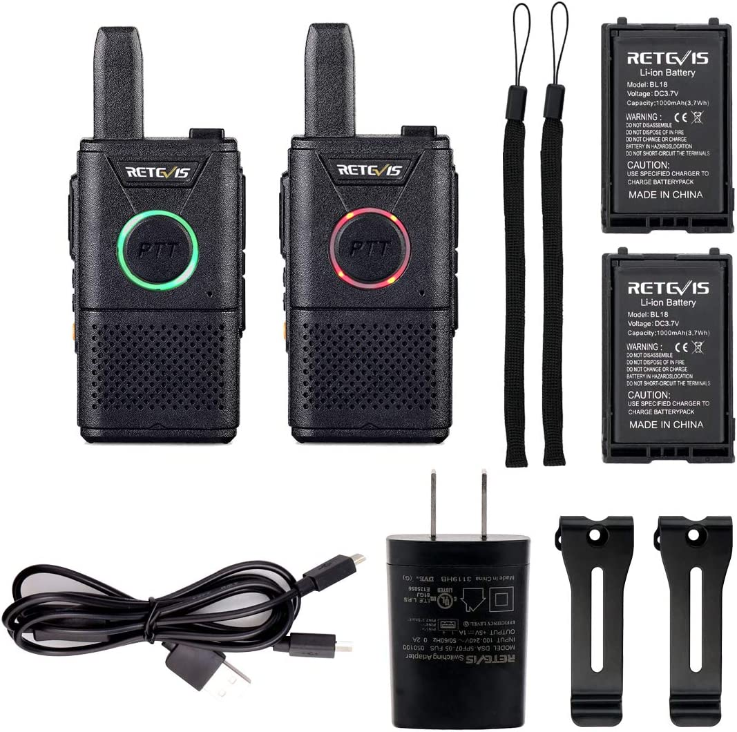CAA9104A10-C9003A10 Retevis RT21 Two Way Radio Rechargeable 2 Way Radios UHF FRS 16CH VOX Scrambler Emergency Security Long Range Walkie Talkies with Secret Service Earpiece 10 Pack