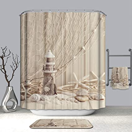 Amazon Euone Shower Curtain Clearance Waterproof Beach Sea