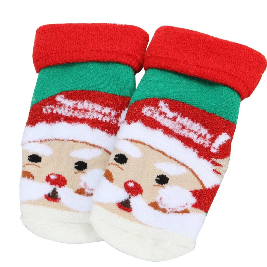 San Bodhi® Baby Toddler Cute Christmas Winter Warm Thick Floor Socks