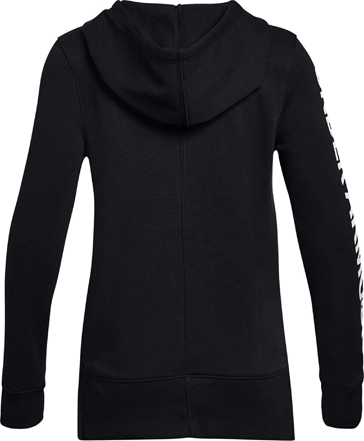Black//Silver Youth X-Large Under Armour Rival Full Zip Warm-up Top