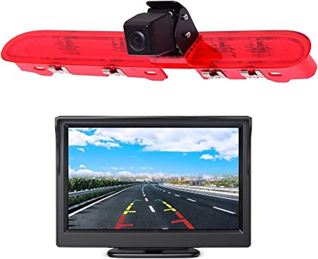 Dolphin Automotive Reversing Camera /& 4.3 Dash Monitor Kit for Peugeot Expert 2007-2016 Also Fits Toyota ProAce /& Citroen Jumpy