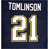 $260 » San Diego Chargers LaDainian Tomlinson Autographed Signed Blue Jersey HOF 17 - Beckett Authentic