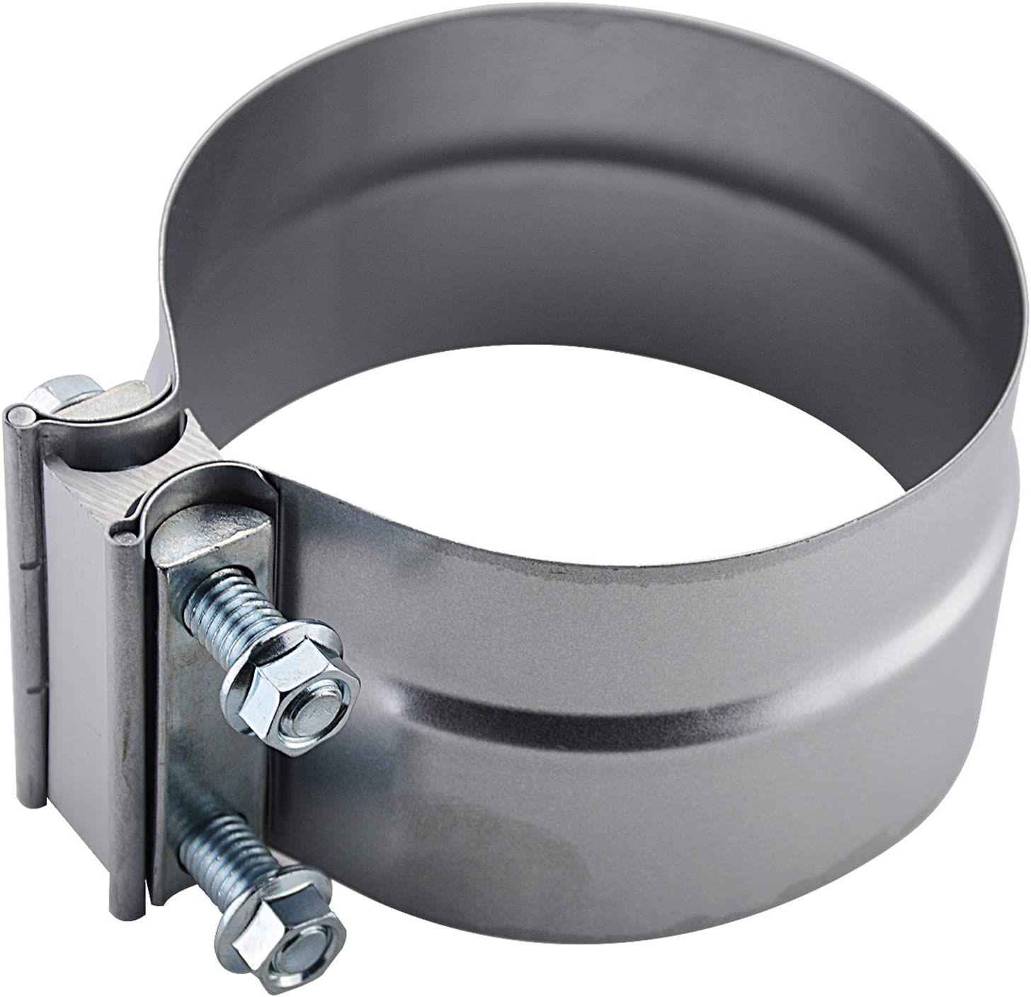 SmartParts 120500 5 Butt Joint Aluminized Steel Exhaust Clamp with I Block