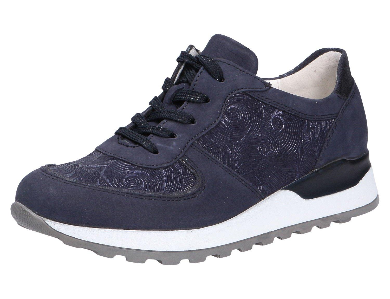 Waldläufer 364013 - Zapatos de cordones para mujer 37.5 EU Azul