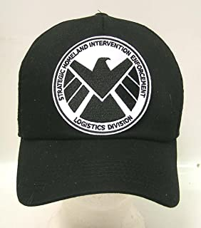 AGENTS OF SHIELD TV Series Black   White Logo Baseball Cap Hat w Patch 44d1ec22da91