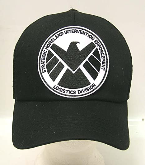 acd72e52130 Amazon.com  AGENTS OF SHIELD TV Series Black   White Logo Baseball Cap Hat  w Patch  Toys   Games