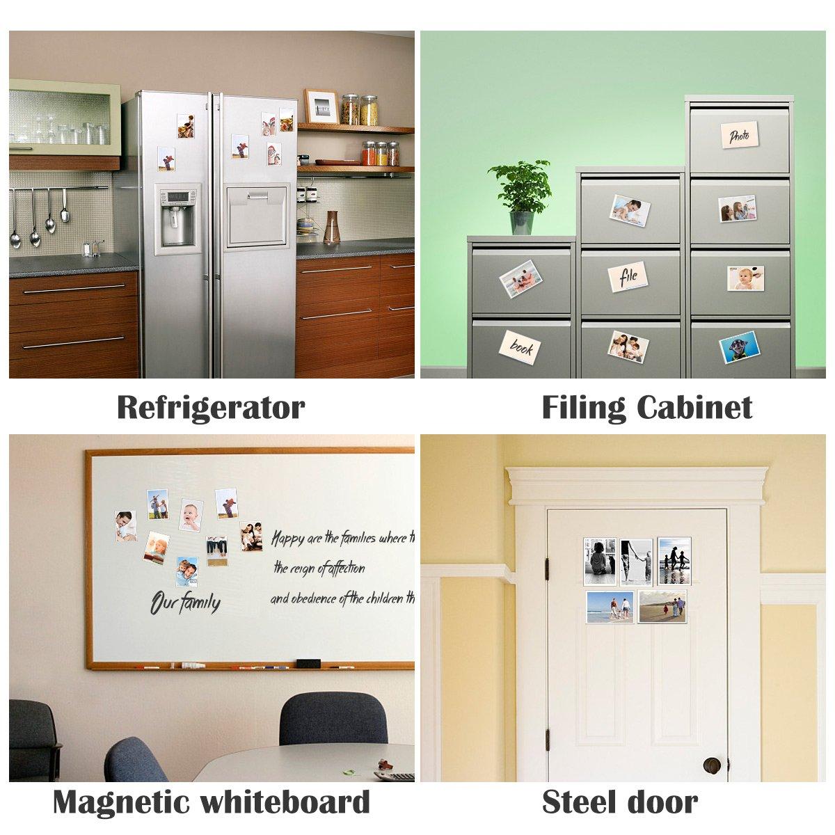HIIMIEI Magnetische Bilderrahmen 10x15 cm (10 Pack), Kühlschrank und ...