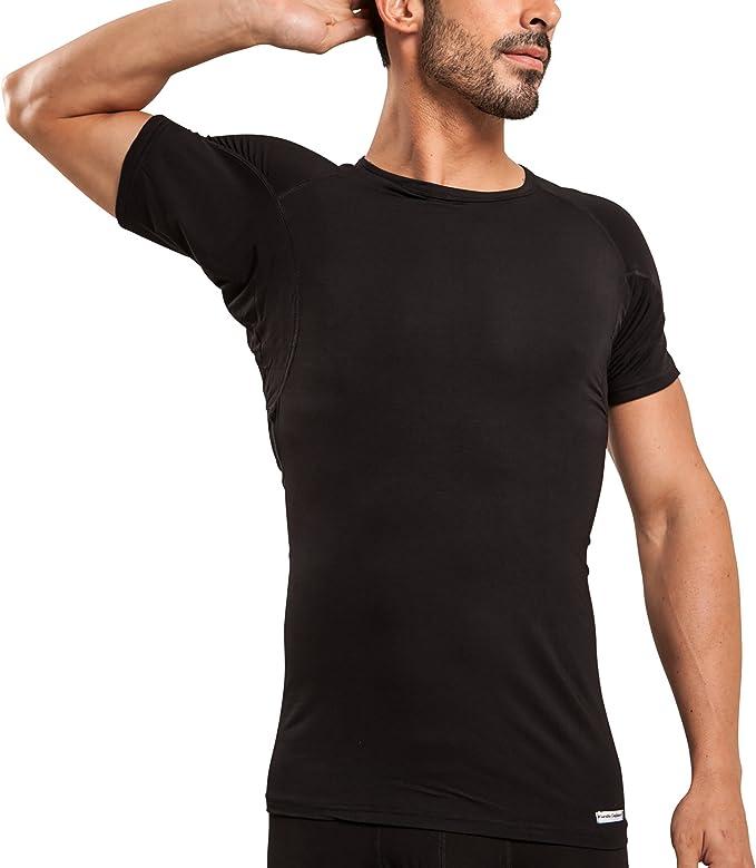 T Thompson Tee Sweatproof Undershirt for Men with Underarm Sweat Pads Original Fit, Crew Neck