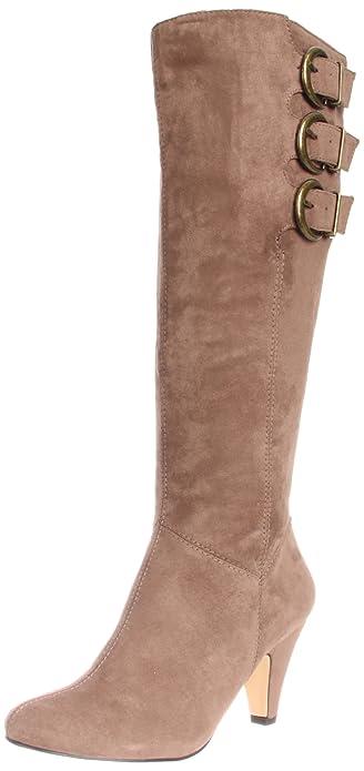 Bella Vita Women's Tanner II Harness Boot, Dark Brown Faux Leather, 6 N US