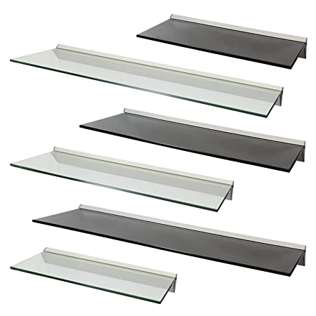 Glass Floating Shelves Custom Hartleys Floating Glass Wall Display Shelf Choice Of Size Colour