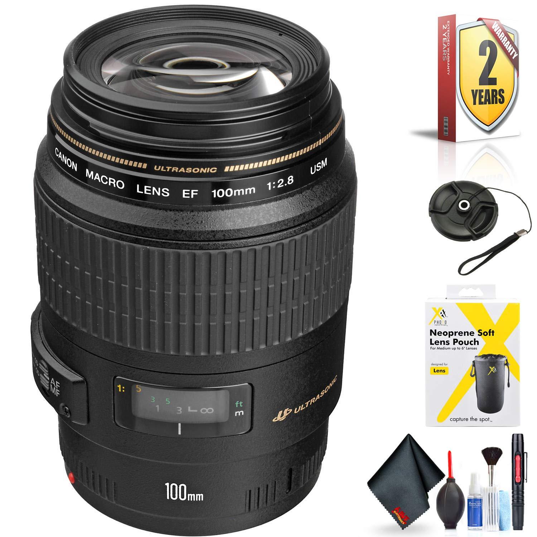 Canon EF 100mm f/2.8 マクロ USM レンズ Canon EFマウント用 + アクセサリー   B07N95V7S9